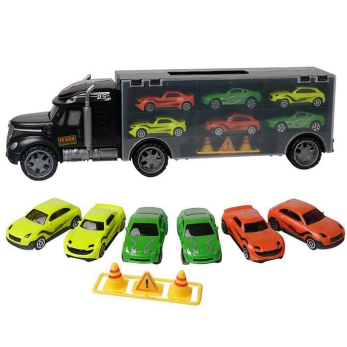 Camion Conteneur Transporteur cadeau Et 10pcs Jouets Pour Voitures Porte Enfant Portable Mogoi N8PXk0wnO