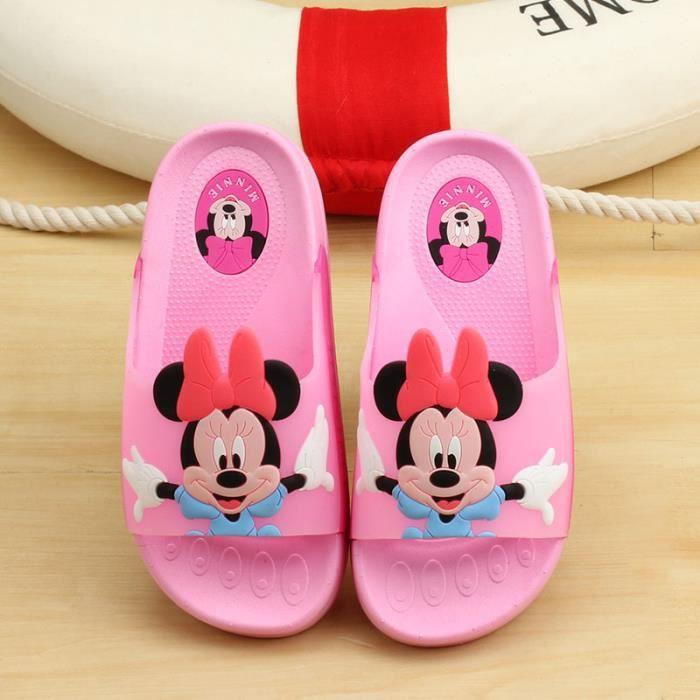 Enfants chaussures maison salle de bain intérieure slip pantoufle semelle souple dessin animé sandales enfants tongs plage swmgDA