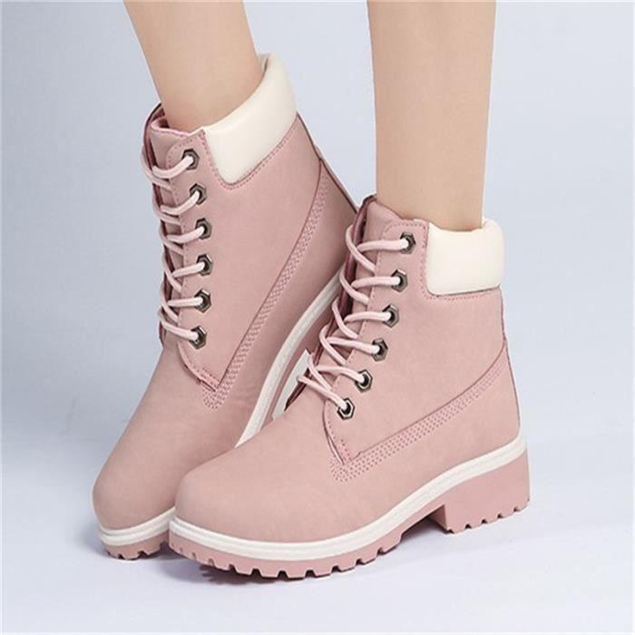 Bottines Femme Chaussure Femme Hauteur Croissante Boots Martin Bottes Qualité Supérieure Chaussure Confortable Boots