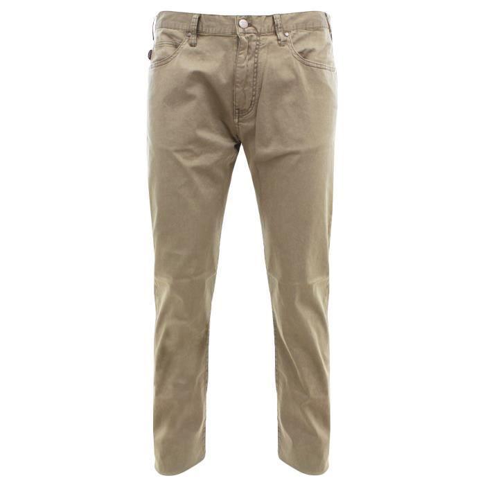 8590b5e3fee Armani Jeans C6J74 FWP6 Les pantalons de coton pour homme vert Vert ...