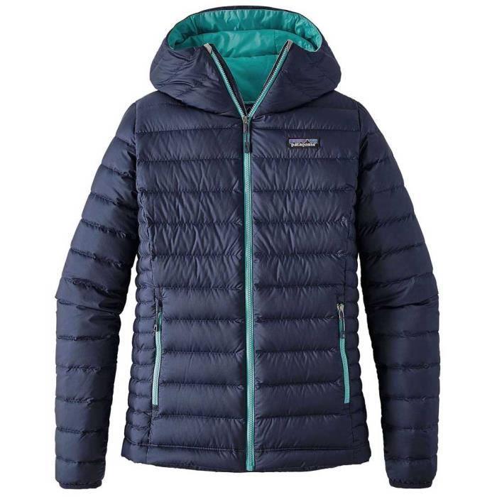 2bb73a4055a Vêtements femme Doudounes Patagonia Down Sweater Hoody Bleu Bleu ...