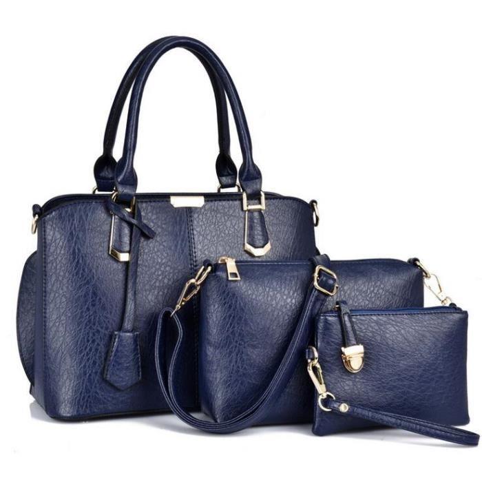ce27c77a15 STOEX® Vintage Sac à main en cuir femme bandoulière sac besaces femme sac  femme en cuir blue