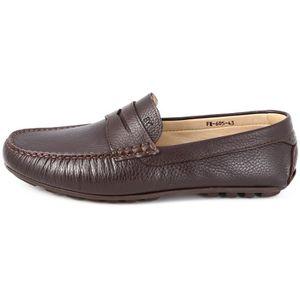 Oxford Flats en cuir décontractée Mode homme Mocassins en cuir pour homme,marron,9,6565_6565