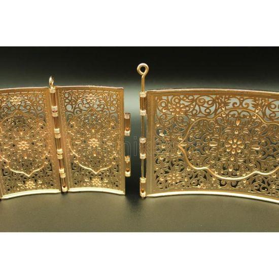 Bijou oriental ceinture arabesque en plaqué or - Achat   Vente chaine de  taille - chaine d epaule Bijou oriental ceinture ara... Plaqué or Doré - 5aa49605bec