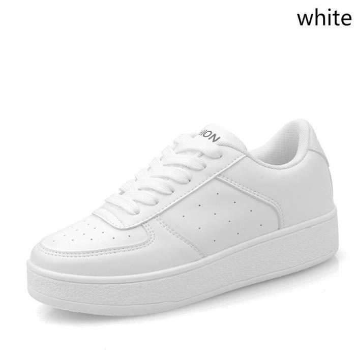 Tableau blanc Basket respirant PU Flats Loisirs Antidérapants Casual 8 Multicolor znv4zH87