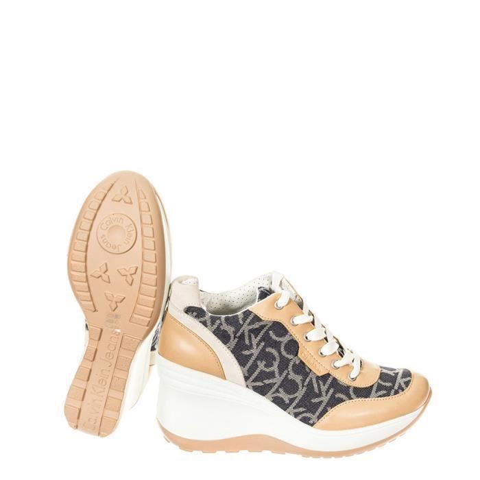Calvin Klein - Baskets compensées -Hauteur de coin beige: 7cm
