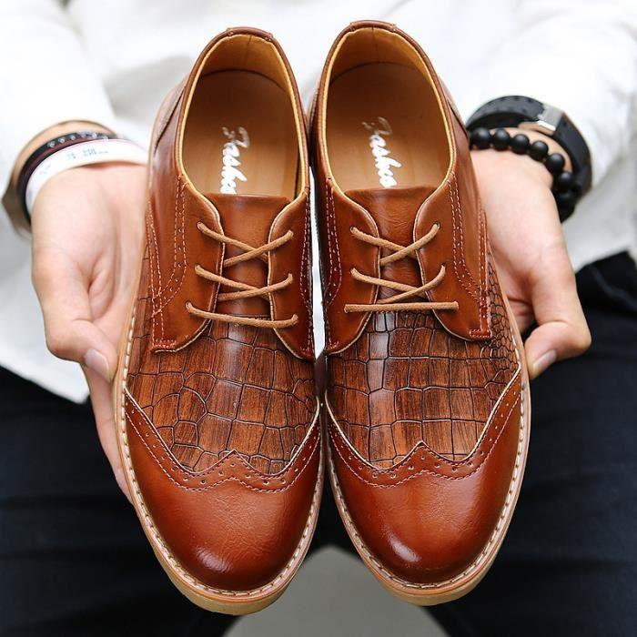 Hommes Cuir En Jaune Chaussures 42 Mocassins 137 Derbies pnqxPX