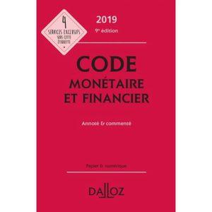 LIVRE DROIT AFFAIRES Code monétaire et financier annoté et commenté. Ed