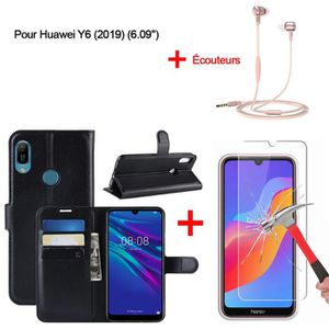 HOUSSE - ÉTUI Coque Pour Huawei Y6 2019 Noir Housse - in-ear Cas