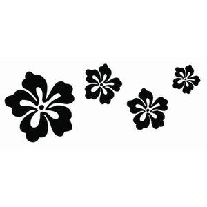 STICKERS Sticker mural autocollant Fleurs Azalées , noir.