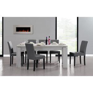 TABLE À MANGER COMPLÈTE [en.casa] table et jeu de chaises 'Helsinki' (blan