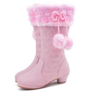 Princesse Bottes Hiver Enfants Chaud Chaussures Peluche lT3JcFK1