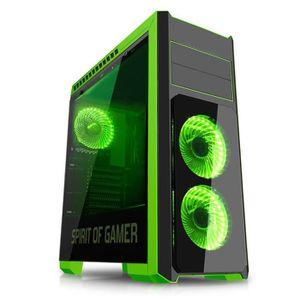 BOITIER PC  SPIRIT OF GAMER Boîtier PC Gamer Rogue III - Vert