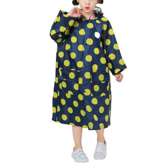 vente chaude en ligne 3f2d1 2c76c YoungSoul Manteau Impermeable Fille - Poncho de Pluie Sac à Dos - Cape  Imperméable Enfant avec Capuche