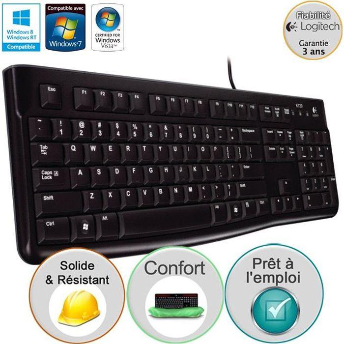 Logitech clavier filaire - K120