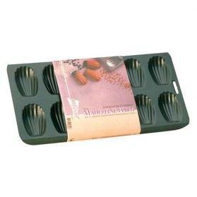 PATISSE Plaque à madeleine antiadhésif en acier revêtu - 12 cavités - 40x19 cm - Noir