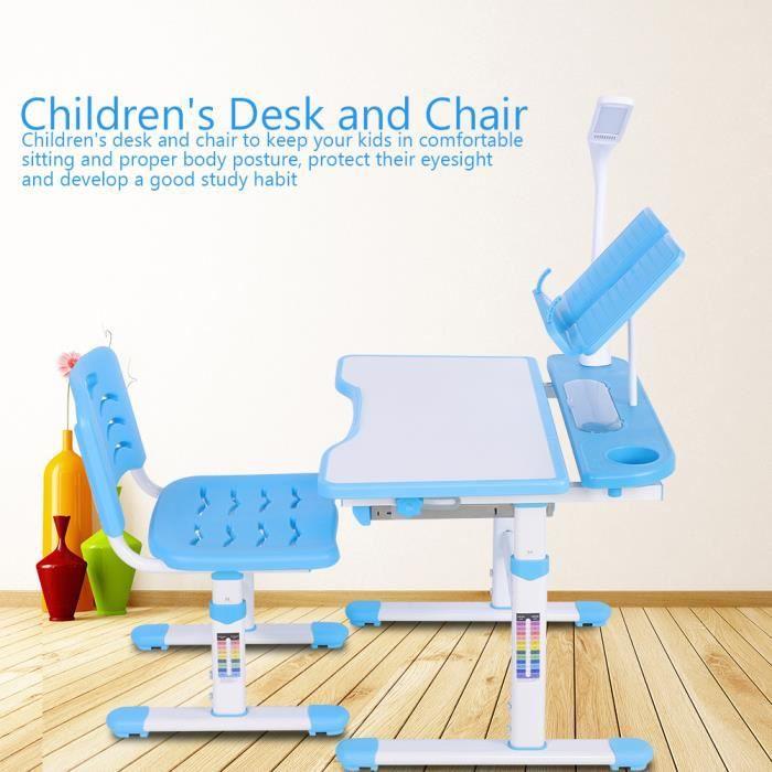 Set Bureau Chaise Pour Enfant Ergonomique Table H