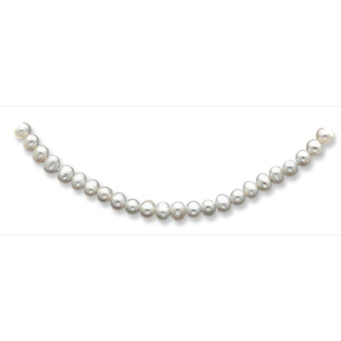 14 carats 5,5 mm 5 oignon deau douce blanche collier de perles 18 pouces