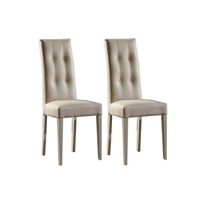 lot de 2 chaises design italienne four seasons achat vente chaise cuir bois cdiscount. Black Bedroom Furniture Sets. Home Design Ideas