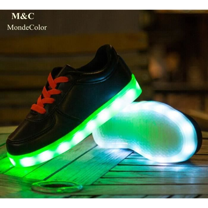 7 Couleurs LED Éclairage Chaussure Enfant USB C...