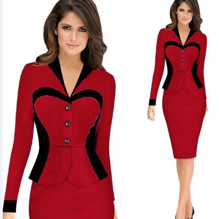 robe femme couture fausse carrière de mode deux...