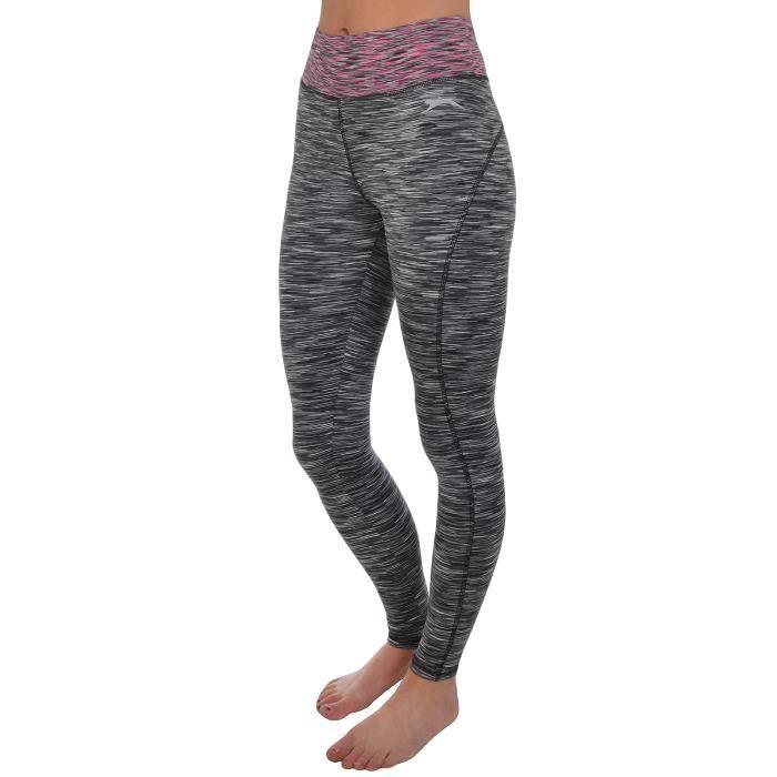 plus récent d87aa 28035 Slazenger - Pantalon de sport/course - femme - style legging - bleu  marine/noir
