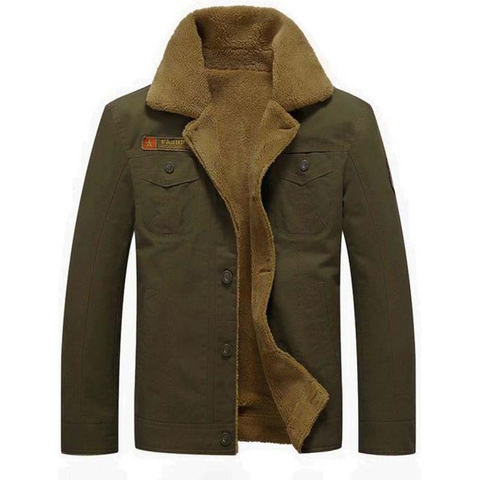 Hiver En Homme Militaire Coton Polaire Chaude Veste Casual qwp16C