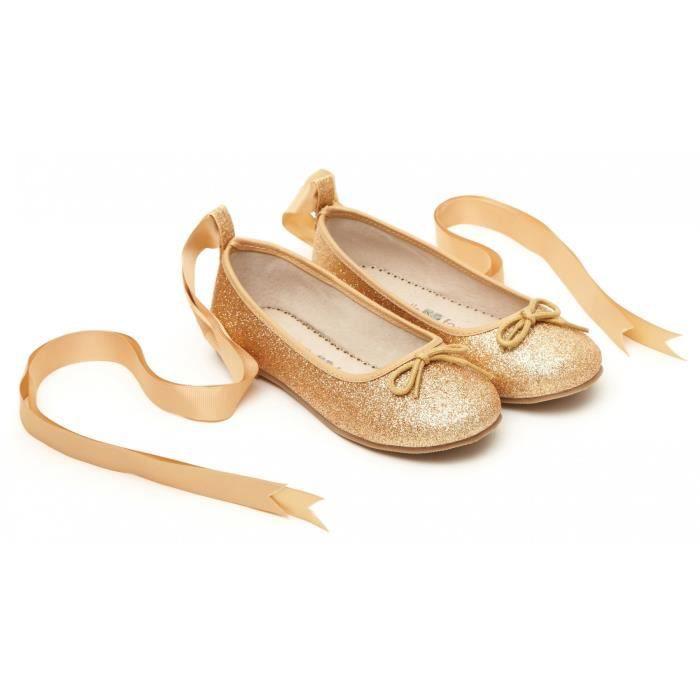 Ballerine de danseuse à paillettes - Doré - 30