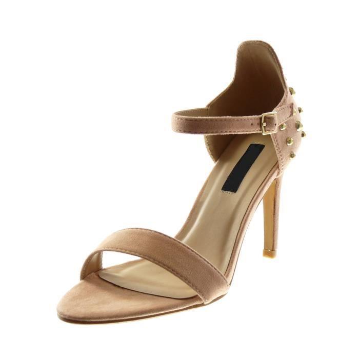 femme chaussure sandalette escarpin par lanière blanc n5Dn8