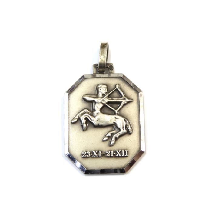 Pendentif zodiaque sagittaire en argent 925 15mmx22mm - RC005320
