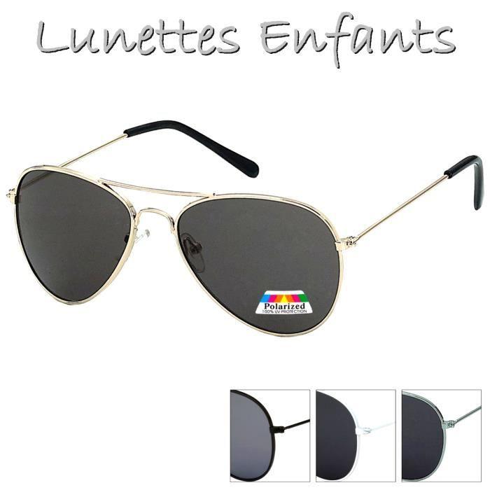 Lunettes SOLEIL AVIATOR Garçon Fille Kids ENFANTS Métal Fun Protection 100%  POLARISE d8af9d8dbb16