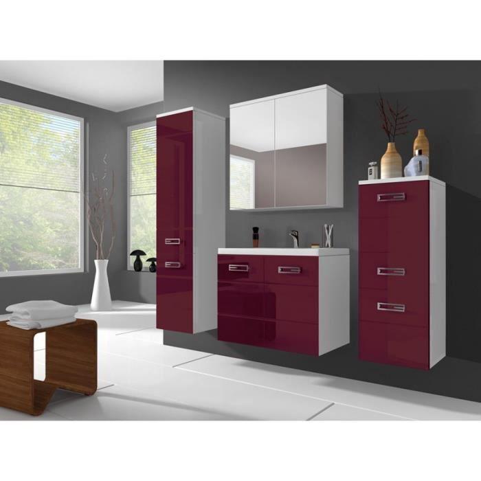 Ensemble clarence meubles de salle de bain rouge - Ameublement bordeaux ...