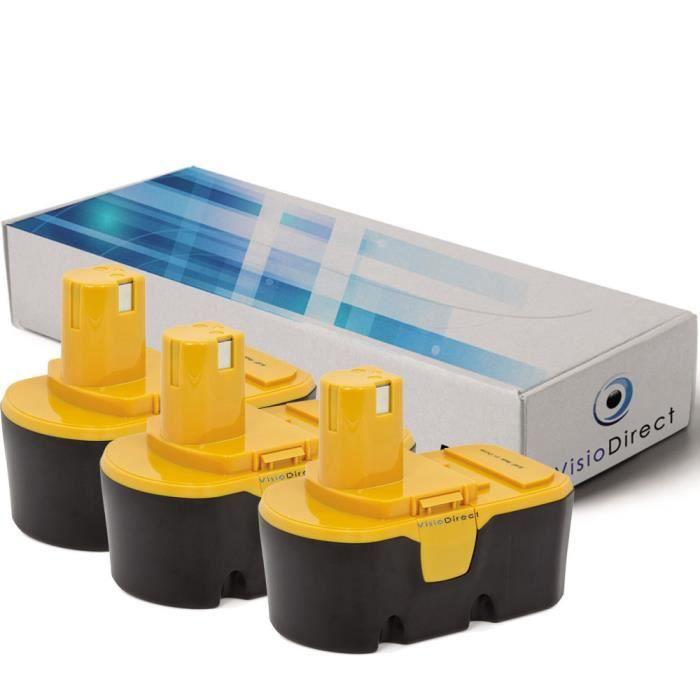 BATTERIE MACHINE OUTIL Lot de 3 batteries pour Ryobi P300 agrafeuse sans