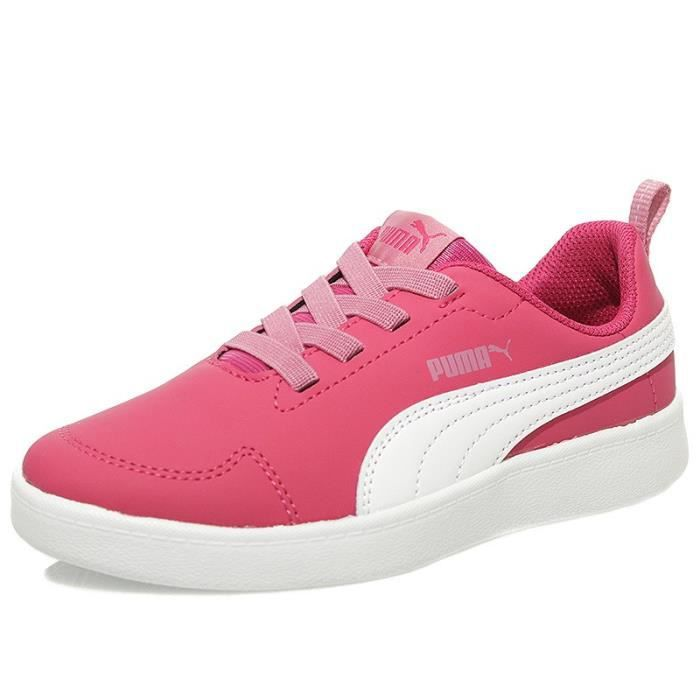 Chaussures Courtflex PS Rose Fille Puma