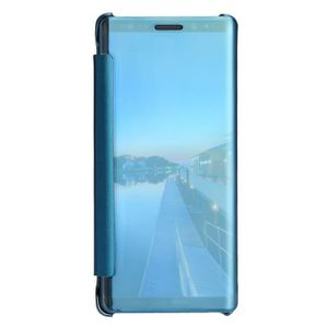 Pour Samsung Galaxy Note 8 Clear View Mirror Leather Flip Stand Case Covercoque HM10041 z5sriAN