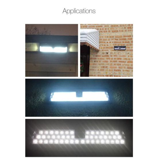 Le Jardin Led Arilux Détecteur Mouvement Applique Extérieure Pir Lampes Pour Solaires Murale 54 5LARj4
