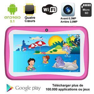 TABLETTE ENFANT Tablette enfant, tactile, Rouge, 8 Go, 7 pouces  A