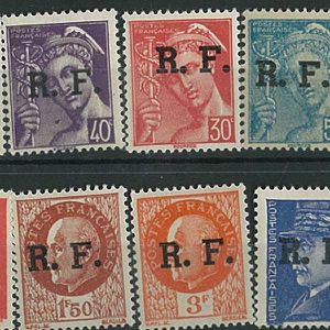 TIMBRE France -  10 Timbres Liberation