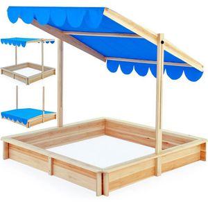 bac à sable marquise bleu toit réglable inclinable - achat / vente