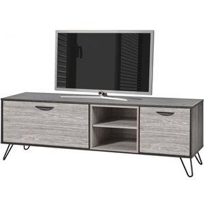 grand meuble tv 180 cm a 2 portes avec pietement e Résultat Supérieur 5 Élégant Petit Meuble De Tele Photos 2018 Hdj5
