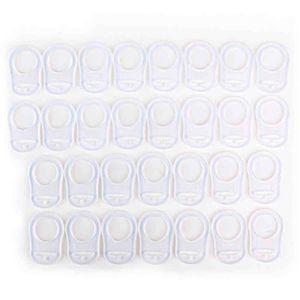 ANNEAU DE DENTITION 30 Anneaux En Silicone Transparent - Crochets Téti