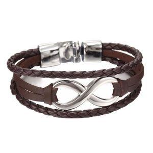 BRACELET - GOURMETTE Bracelet à breloques infini Bracelet tressé Faux e