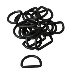 PIÈCE POUR FAIT-MAISON 20x boucle en plastique noir ajustable avec anneau a7a1ff94841