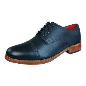 DERBY Base London Vanguard Hommes Chaussures en cuir Noi
