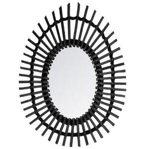 MIROIR Miroir oval en rotin coloris noir - Dim   L.43 x l ccedc40e1646