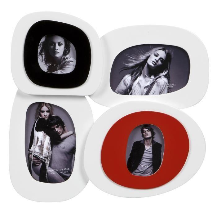 IMAGINE Cadre photo multivues Seventies 34x33 cm 4 vues