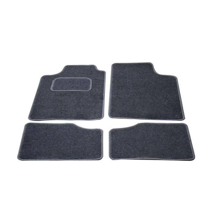 TEXTILE AUTO CONFORT Lot de 4 tapis city - gris / gris - taille unique