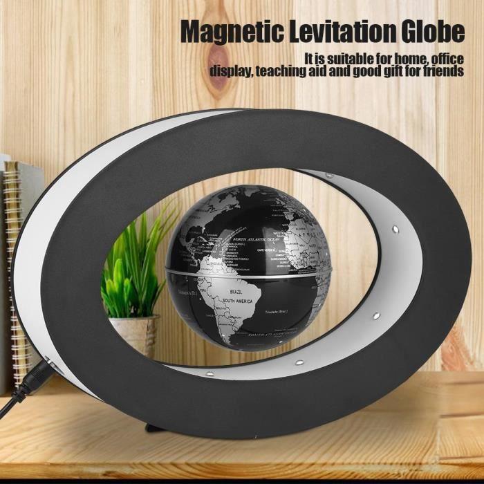 Carte Du Monde Qui Tourne.Magnetique Globe Levitation Carte Du Monde Led Flottantepour Cadeau Decoration De Bureau Maison