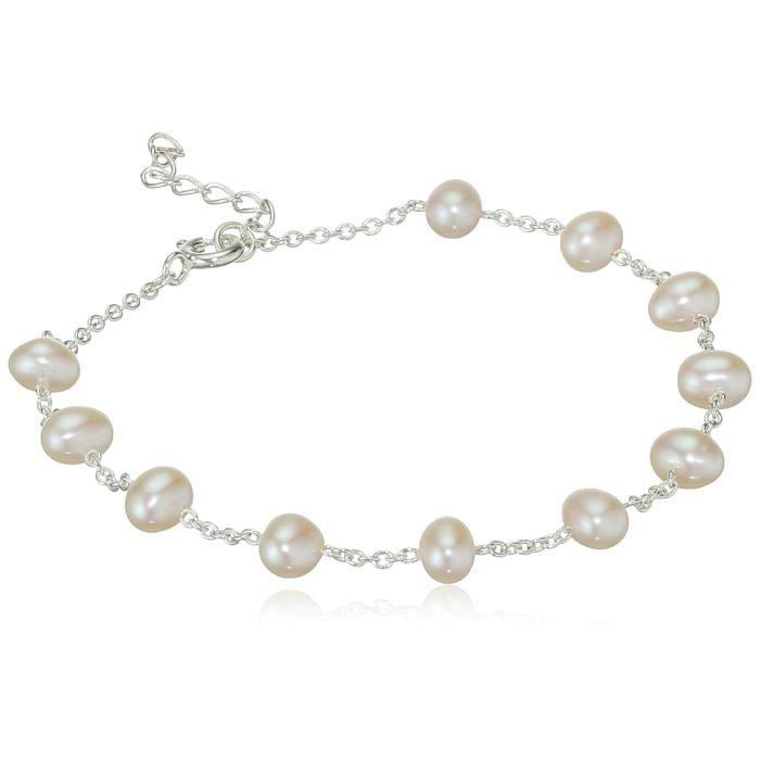 Elements - B4299w - Bracelet Femme - Argent 925-1000 1.42 Gr - Perle Deau Douce SUU4A