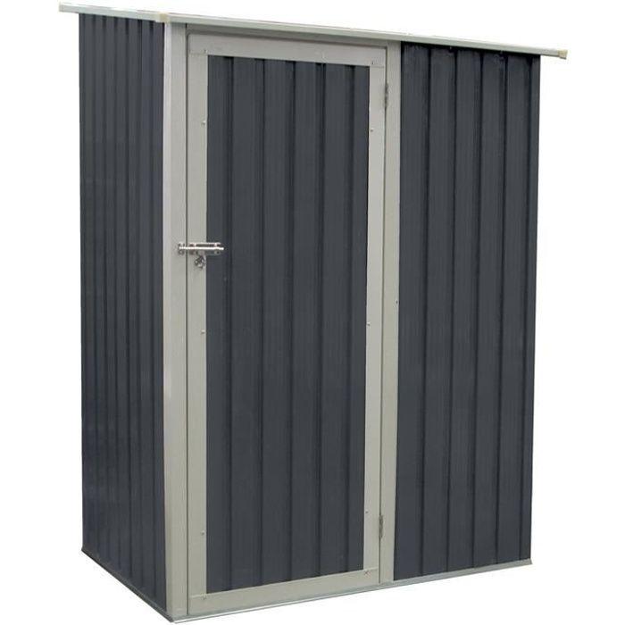abri de jardin en m tal joy 1 3 m gris anthracite achat. Black Bedroom Furniture Sets. Home Design Ideas